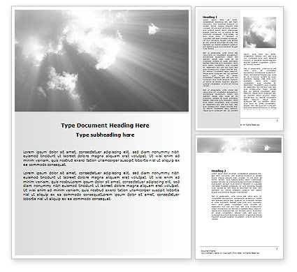 Nature & Environment: Gray Heaven Word Template #06780