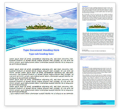 Careers/Industry: Atoll Reef Word Template #06787