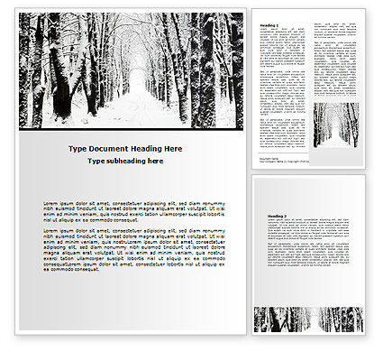 Nature & Environment: Winter Alley Word Template #06792