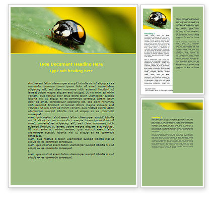 Bug On Green Leaf Word Template