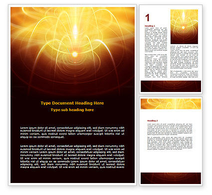 Abstract Fireworks Word Template, 06801, Technology, Science & Computers — PoweredTemplate.com