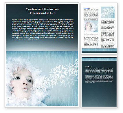 Nature & Environment: Winter Breeze Word Template #06802