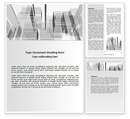 Abstract Architecture Word Template, 06803, Business — PoweredTemplate.com