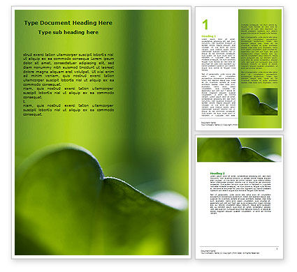 Leaf Word Template, 06810, Nature & Environment — PoweredTemplate.com