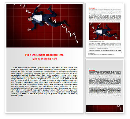 Financial Crisis Word Template, 06814, Consulting — PoweredTemplate.com