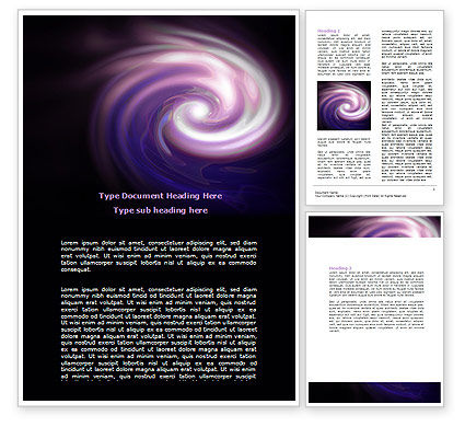 Abstract/Textures: Purple Vortex Word Template #06816