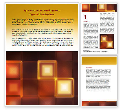 Abstract/Textures: Yellow Boxes Word Template #06829