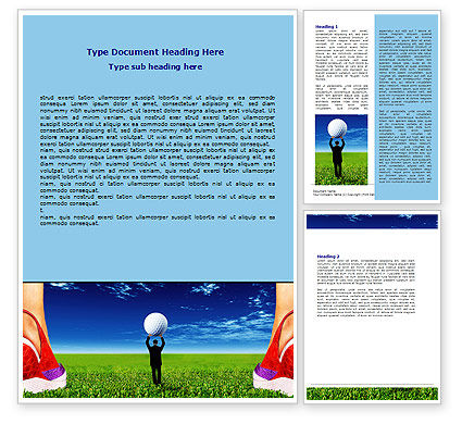 Golf Ball Word Template, 06837, Consulting — PoweredTemplate.com