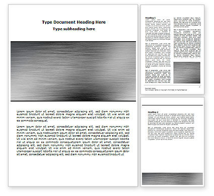 Abstract/Textures: Steel Background Word Template #06842