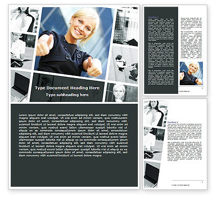 Career for Women Word Template, 06850, People — PoweredTemplate.com