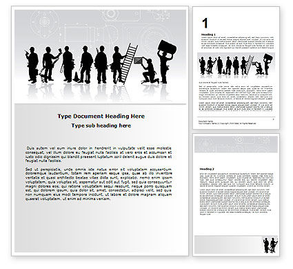 Building Team Word Template, 06853, Utilities/Industrial — PoweredTemplate.com