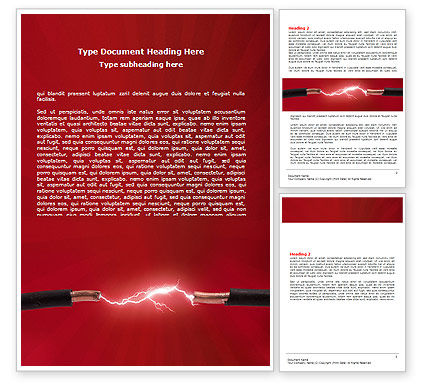 Consulting: Electric Spark Word Template #06858