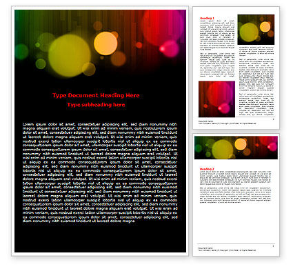 Abstract/Textures: Rainbow Bokeh Word Template #06863