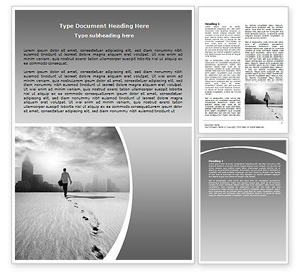Escapist Word Template, 06867, Business Concepts — PoweredTemplate.com