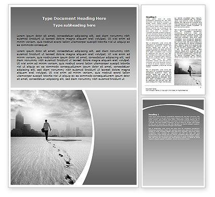 Business Concepts: Escapist Word Template #06867