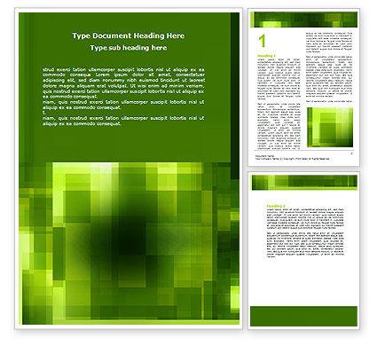 Abstract/Textures: Groene Geometrische Thema Word Template #06868