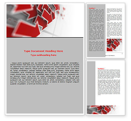 Consulting: Red Arrows Word Template #06878
