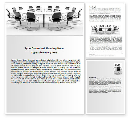 Roundtable Discussion Word Template, 06883, Business — PoweredTemplate.com