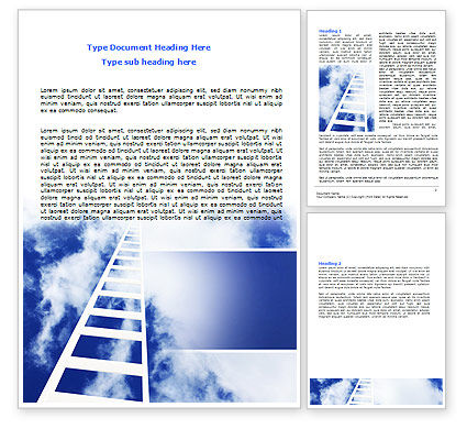Ladder to Heaven Word Template, 06887, Careers/Industry — PoweredTemplate.com