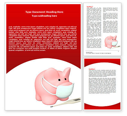 Swine Flu Word Template, 06893, Medical — PoweredTemplate.com