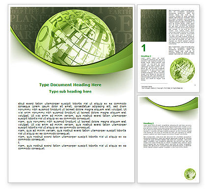Global: Eco Friendly Word Template #06900