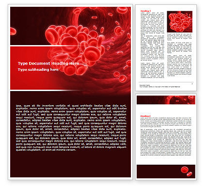 Medical: Blood Clot Word Template #06904