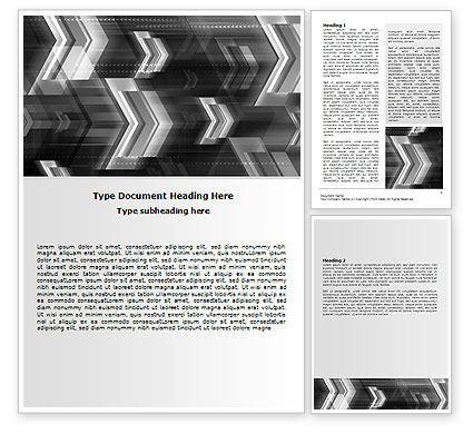 Gray Arrows Word Template, 06910, Business — PoweredTemplate.com