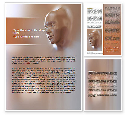Careers/Industry: Face Skin Word Template #06917
