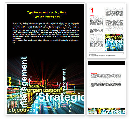 Business: Strategic Management Word Template #06919
