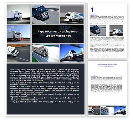 Trailer Trucks Word Template