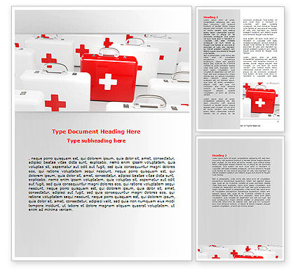 Emergency Medicine Chest Word Template, 06925, Medical — PoweredTemplate.com
