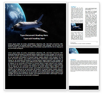 Space Shuttle Word Template, 06926, Technology, Science & Computers — PoweredTemplate.com