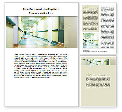 Hospital Hallway Word Template