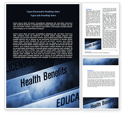 Health Benefits Word Template, 06929, Education & Training — PoweredTemplate.com