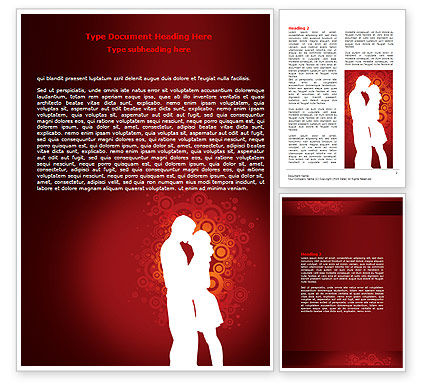 Romance Word Template, 06930, Holiday/Special Occasion — PoweredTemplate.com
