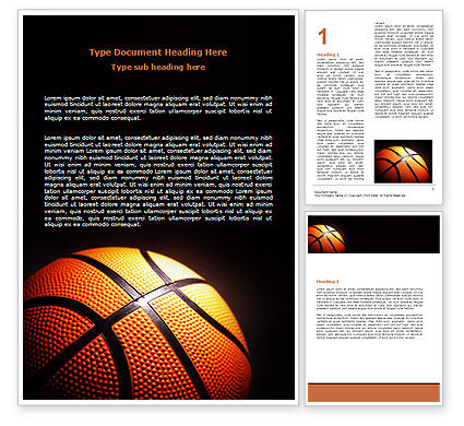 Basketball Ball on NBA Colors Floor Word Template, 06934, Sports — PoweredTemplate.com