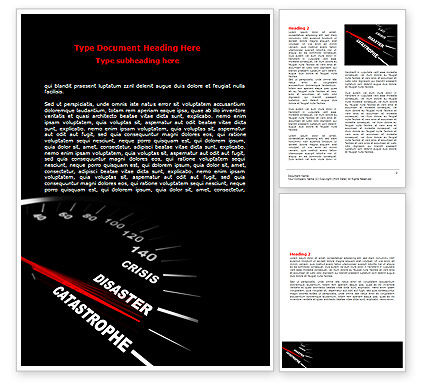 Catastrophe Speedometer Word Template, 06936, Financial/Accounting — PoweredTemplate.com