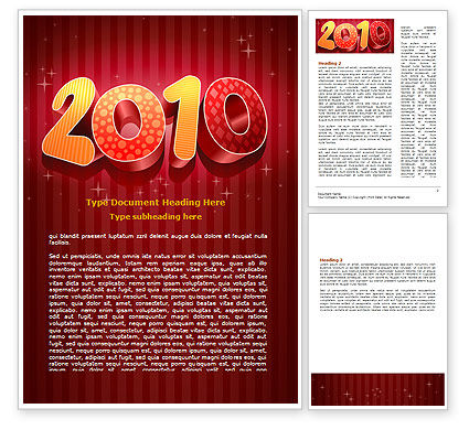 Holiday/Special Occasion: N 2010 Yr Word Template #06939