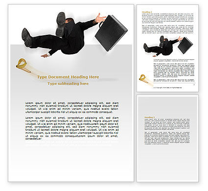 Consulting: Slipping Man Word Template #06946