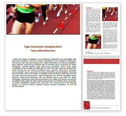Athletic Competition Word Template, 06954, Sports — PoweredTemplate.com
