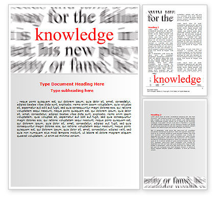 Education & Training: Focus on Knowledge Word Template #06961
