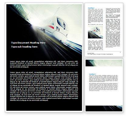 Cars/Transportation: 高速列車 - Wordテンプレート #06963