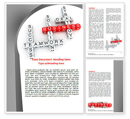 Business: Business Game Word Template #06968