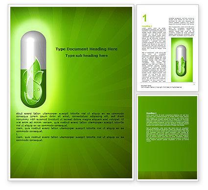 Homoeopathy Word Template, 06972, Nature & Environment — PoweredTemplate.com