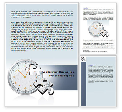 Time Shortage Word Template, 06975, Consulting — PoweredTemplate.com
