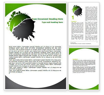 Urbanization Word Template, 06976, Nature & Environment — PoweredTemplate.com