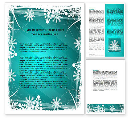 Holiday/Special Occasion: Winter Frame Background Word Template #06980