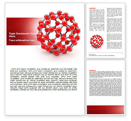 Technology, Science & Computers: Molecular Structure Of Fullerene Word Template #06985