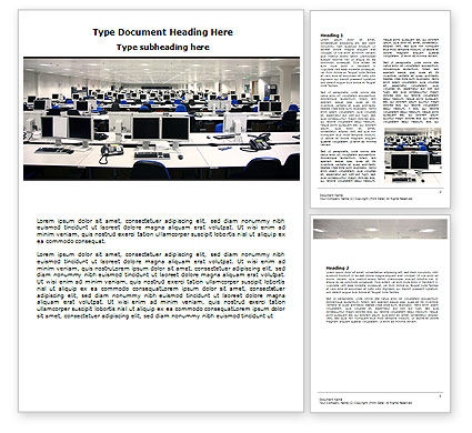 IT Office Space Word Template, 06986, Careers/Industry — PoweredTemplate.com