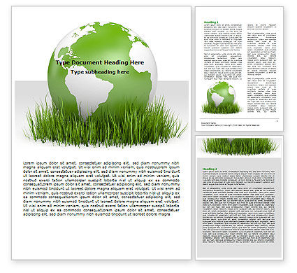 Growing World Word Template